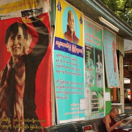 Aung San Suu Kyi y U Wirathu son dos de los protagaonistas de la campaña electoral birmana (Pablo L. Orosa) copia